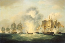 Francis_Sartorius_-_Four_frigates_capturing_Spanish_treasure_ships,_5_October_1804
